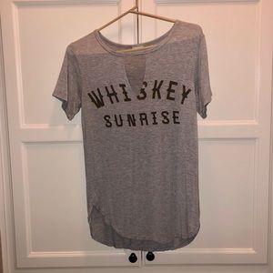 Whiskey sunrise shirt